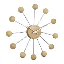 Image of Stupnik Wall Clock with Spiral Wooden Design