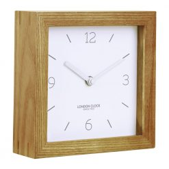 Image of Tid Wood Block Mantel Clock with Wooden Edge