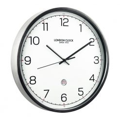 Image of Turbo Date Wall Clock with Silver Trim