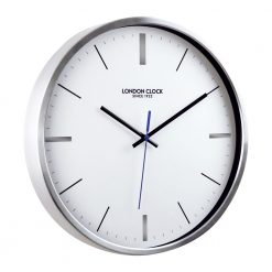 Image of Vantage Silver Wall Clock with Silver Trim