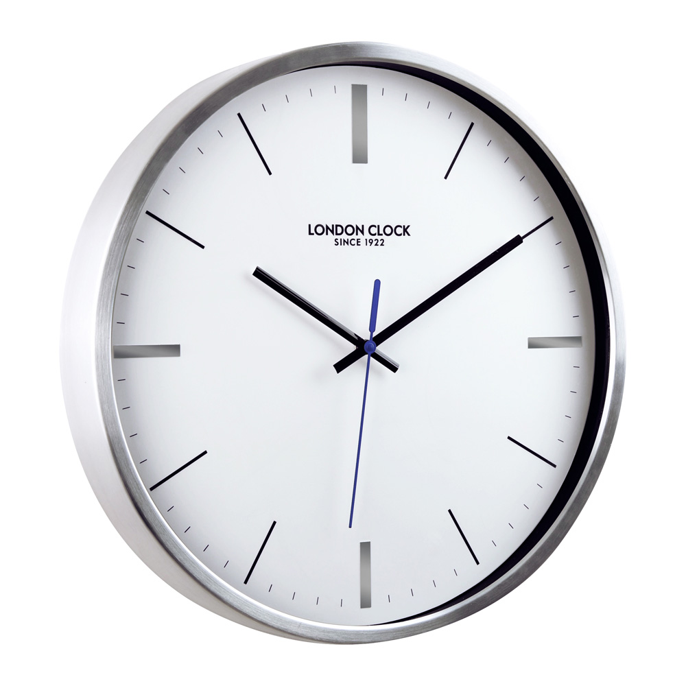 Buy vantage silver wall clock online purely wall clocks - Mondaine wall clock cm ...