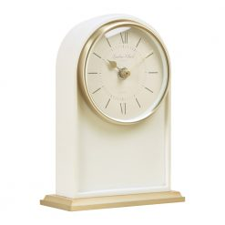 Image of Verity Cream Mantel Clock Tall with Gold Trim