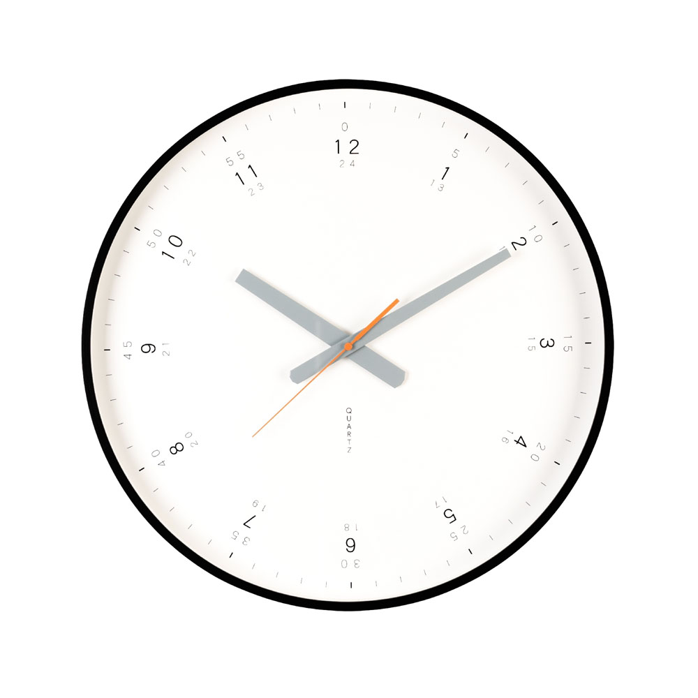 Buy modern black wall clock online purely wall clocks for Giant modern wall clock