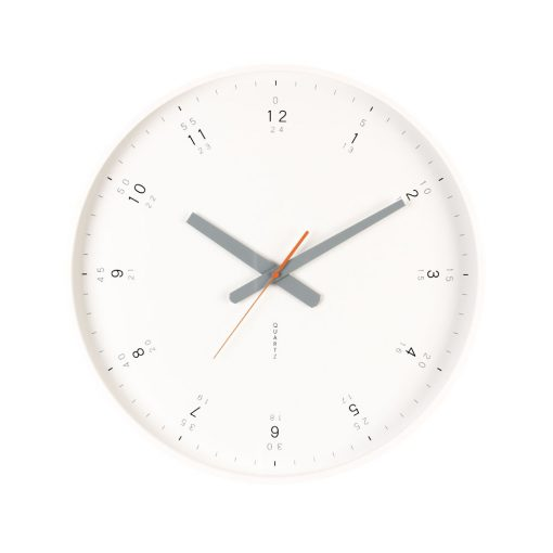 White large modern wall clock with minimalist face