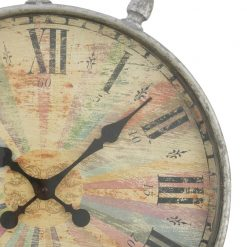 Zoomed in of Wall Clock with Black Hands
