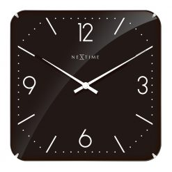 Square Black Wall Clock with White Hands