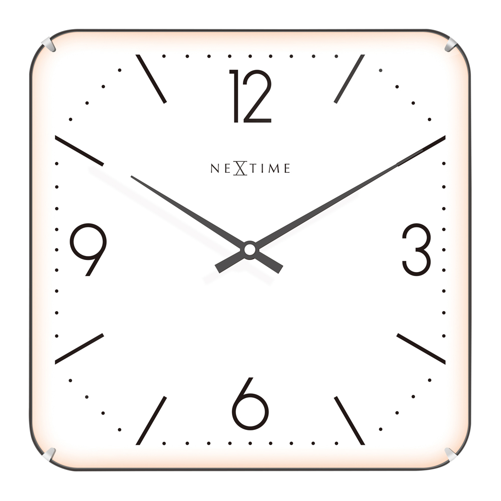 Buy Basic Square Dome Wall Clock White Online Purely