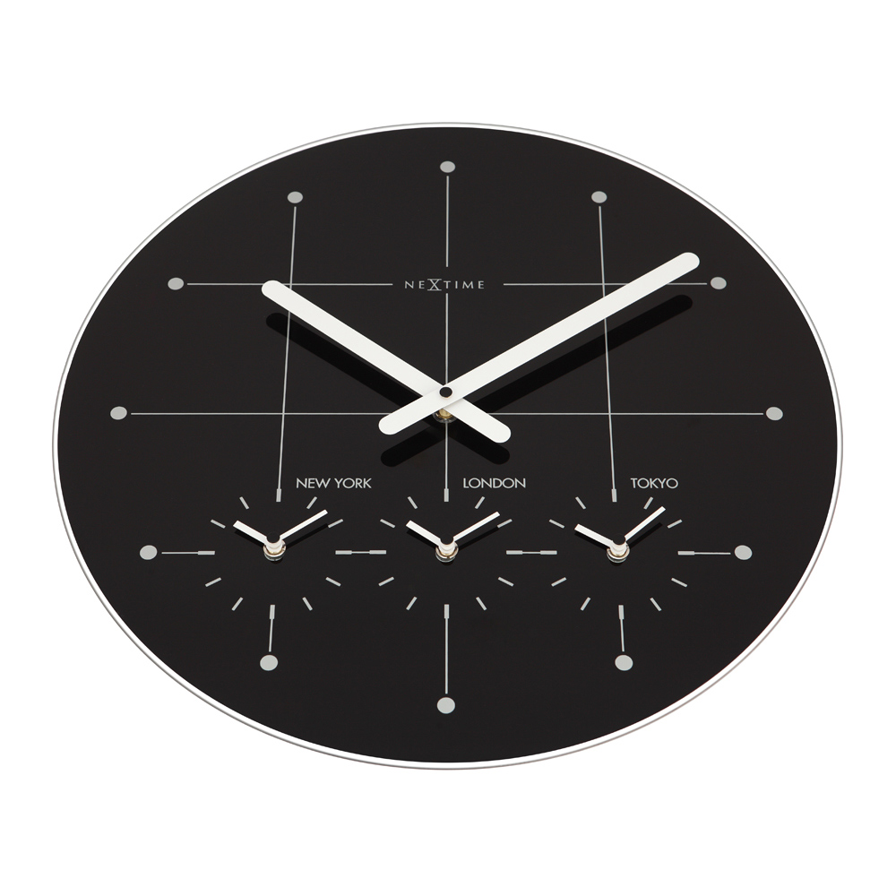 Buy big city large wall clock black white online purely wall clocks - Mondaine wall clock cm ...