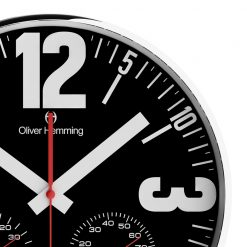 Zoomed in of Bold 30cm Black Wall Clock