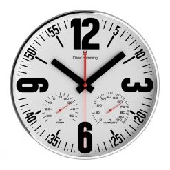 White Wall Clock with Black Hands