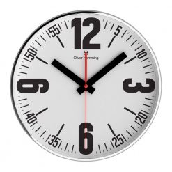 Round Bold 40cm Steel Wall Clock with Black Hands