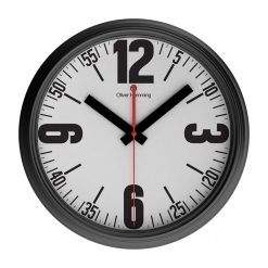 Bold Retro 46cm Steel Wall Clock with Black Hands