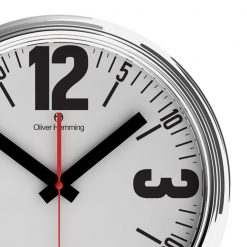 Zoomed in of Bold Retro 46cm Steel Wall Clock