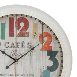 Close up of Round White Wall Clock