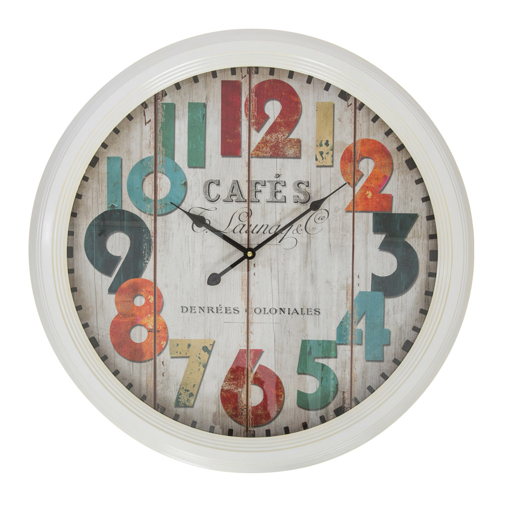Buy Cafe White Metal Large Wall Clock Online Purely Wall
