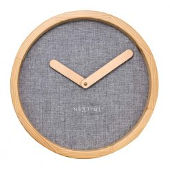 Round Grey Wall Clock with Beige Hand