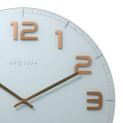 Zoomed in of Round White Wall Clock