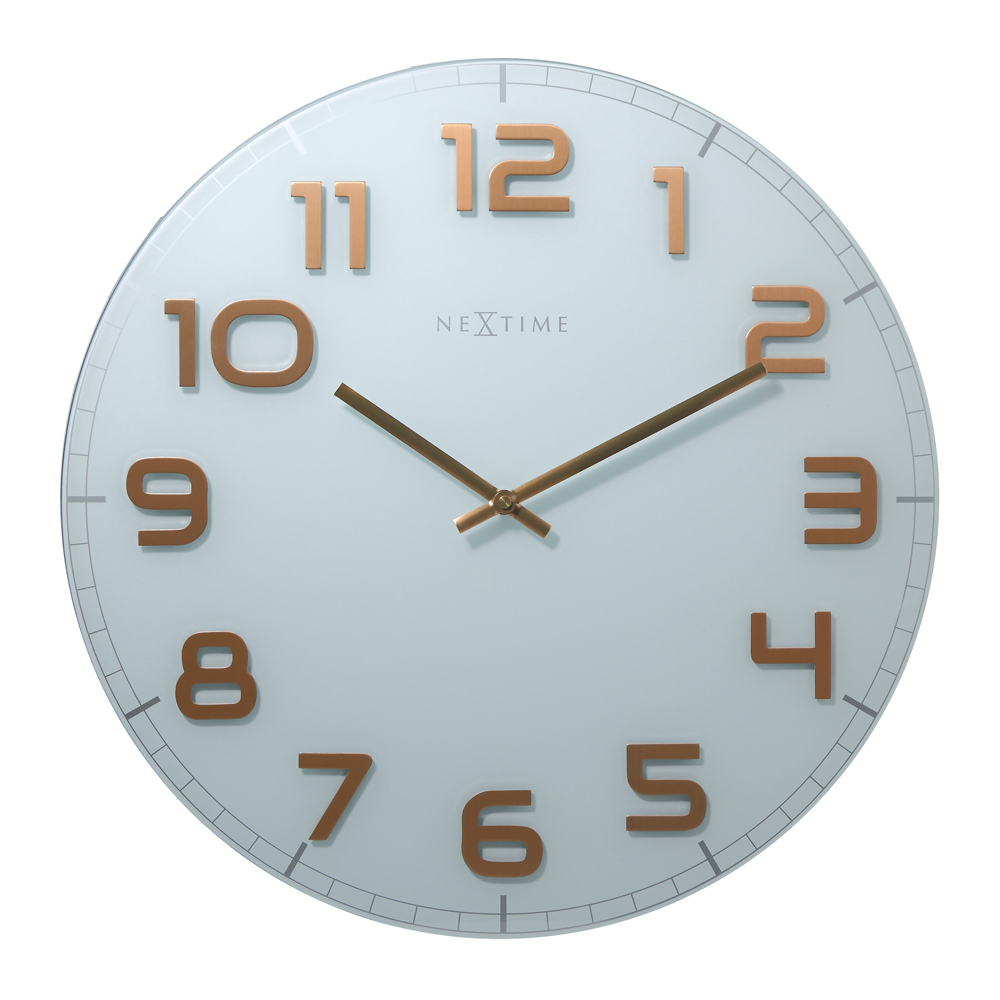 Buy Classy Round Wall Clock White Copper Online Purely