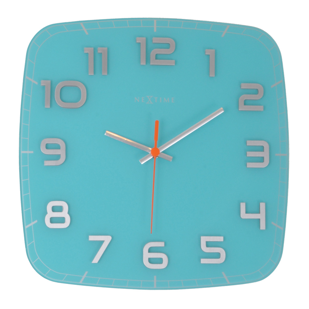 Buy Classy Wall Clock Square Turquoise Online Purely