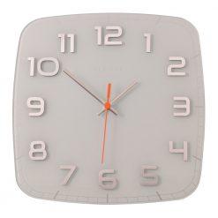 Square White Classy Wall Clock