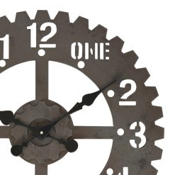 Zoomed in of Gear Metal Wall Clock