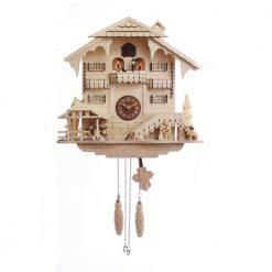 Pink Bird House Wall Clock
