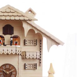 Zoomed in of Pink Bird House Wall Clock