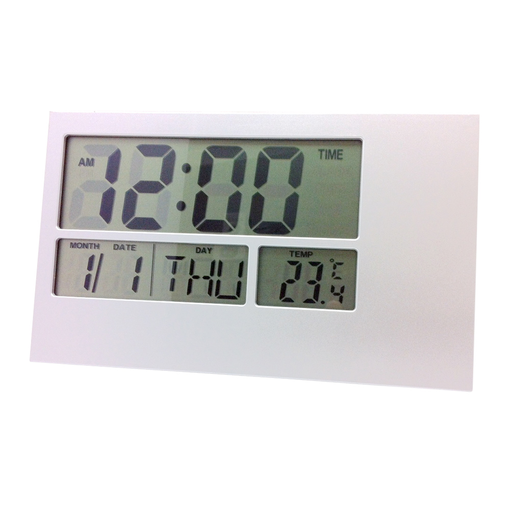 buy digital wall clock silver online purely wall clocks