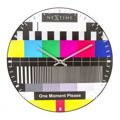 Round Colorful Wall Clock with Silver Hands