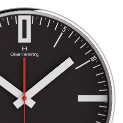 Close up of Double 0 40cm Chome Steel Wall Clock