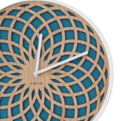 Zoomed in of Wall Clock with Turquoise Pattern