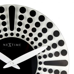 Zoomed in of Wall Clock with Black and White Pattern
