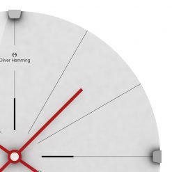 Zoomed in of Fine 30cm Wall Clock with Red Hands