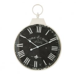 Round Antique Wall Clock with White Hands