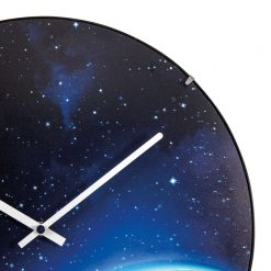 Zoomed in of Wall Clock with White Hands