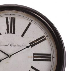 Close up of Black Wall Clock with White Background