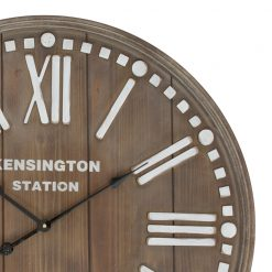Zoomed in of Guyra Wooden Panel Wall Clock
