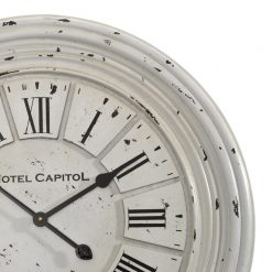 Zoomed in of Round Wall Clock