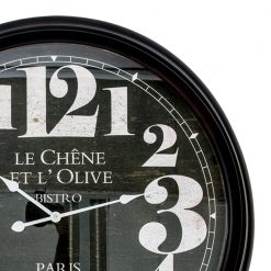 Zoomed in of Extra Large Metal Clock