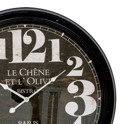Zoomed in of Large Metal Clock