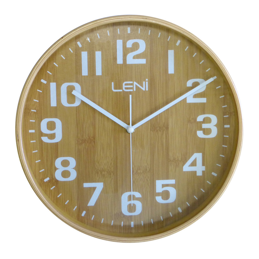Buy leni bamboo wooden wall clock small wallet online purely wall clocks - Mondaine wall clock cm ...