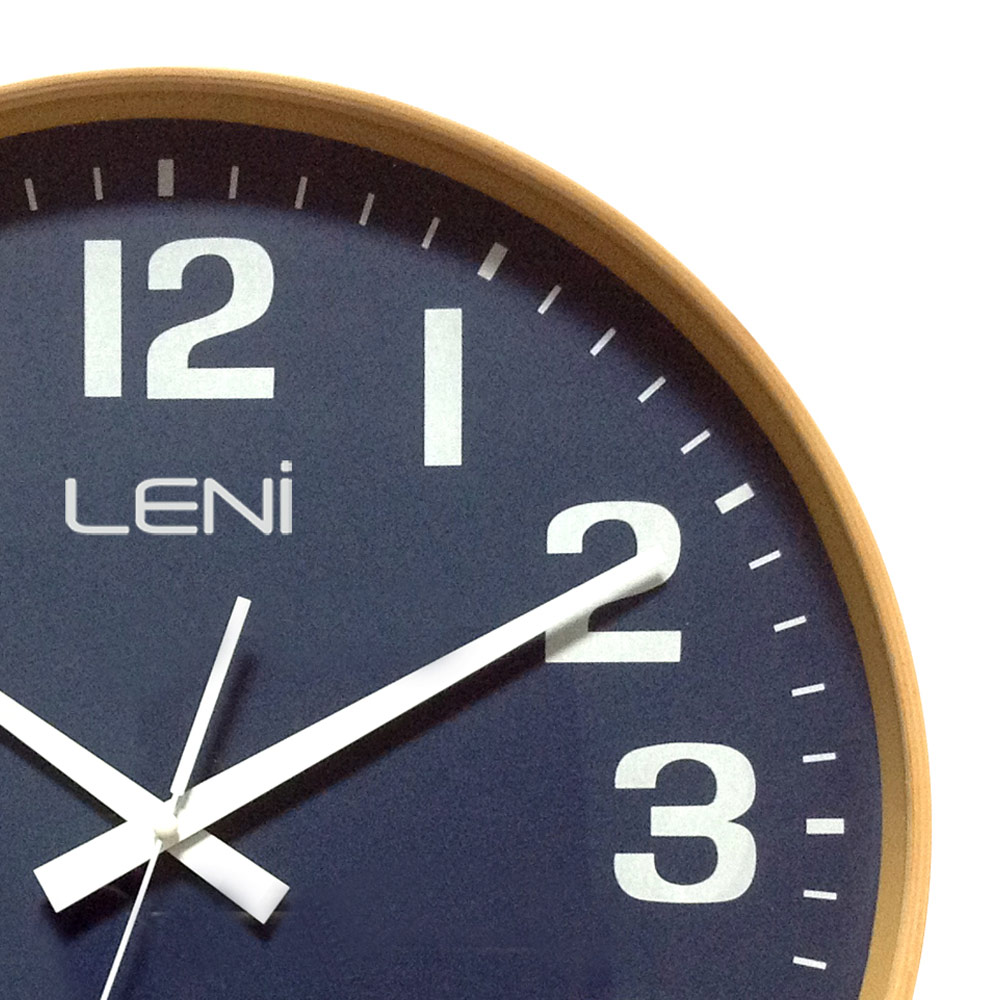 Navy blue wall clock gallery home wall decoration ideas leni navy wooden wall clock large 32001navb close amipublicfo gallery amipublicfo Images