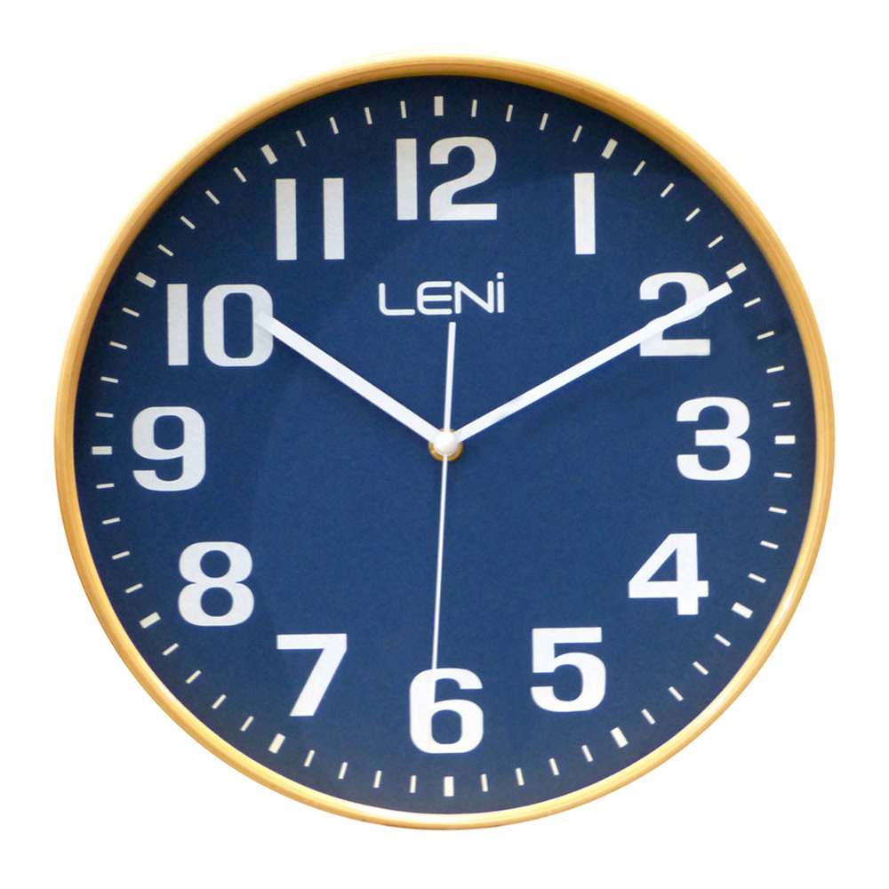 Buy Leni Navy Wooden Wall Clock Small Wallet Online Purely