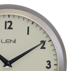 Zoomed in of Silver Wall Clock