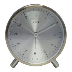 Round Table Alarm Clock with White Hands