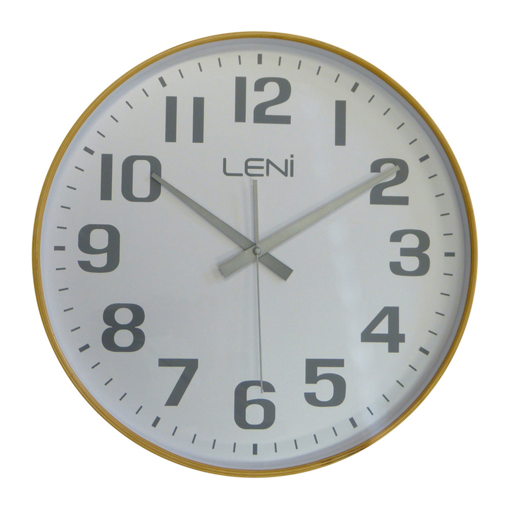 Buy Leni White Wooden Wall Clock Large Wallet Online
