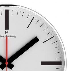 Zoomed in of Linear 30cm Steel Wall Clock