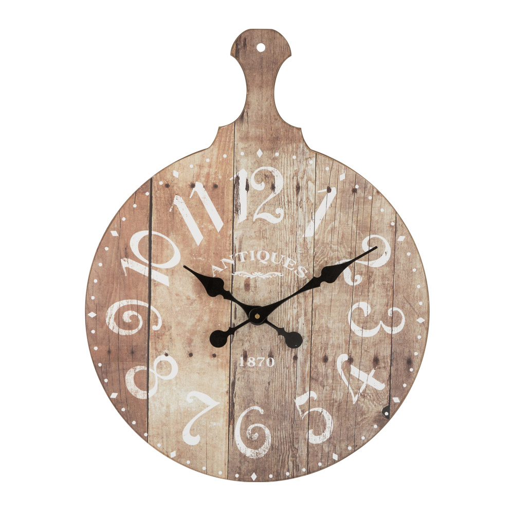 Buy lussat wooden antique board clock online purely wall for Antique wall clock wood