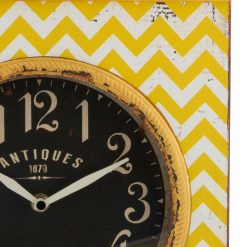 Zoomed in of Lyn Iron Square Antique Clock