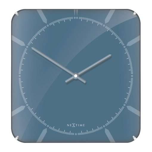 Buy Michael Square Dome Wall Clock Blue Online Purely